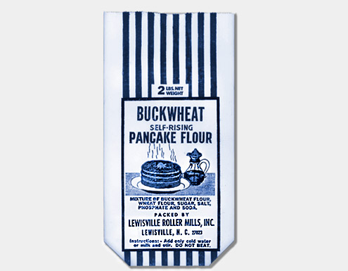 Lewisville Roller Mills two-pound buckwheat pancake mix bag