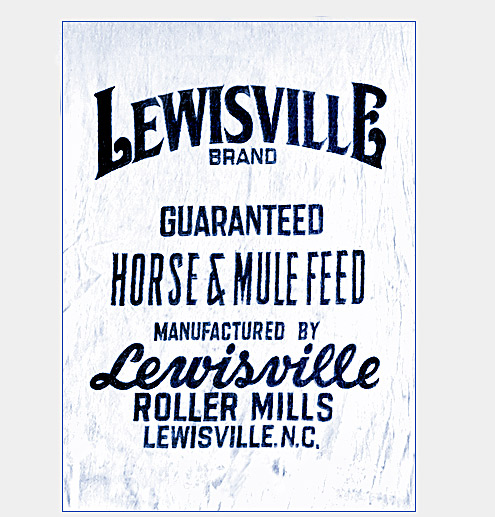 Lewisville Roller Mills Horse and Mule Feed bag