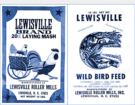 Lewisville Roller Mills Laying Mash and bird see bags