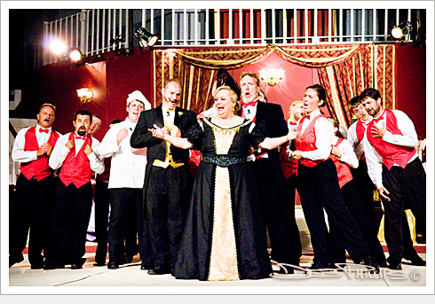 Hello Dolly presented by the West Side Civic Theatre (WSCT) in Shallowford Square in Lewisville, North Carolina (Forsyth County) - westside, theater, plays, musicals. Deb Phillips, photographer.