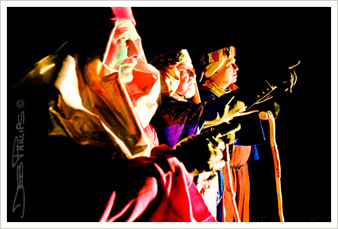 Three wise men at the Live Nativity presented by Shiloh Lutheran Church in Lewisville, North Carolina (Forsyth County). Deb Phillips - Photographer.