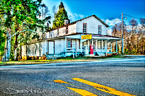 Jones Grocery Store in Lewisville, North Carolina (Forsyth County) - Deb Phillips, photographer. Color shot.