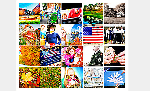 100 Moments Collage (Images 41-60) - Life in Lewisville, North Carolina (Forsyth County). Deb Phillips, photographer.