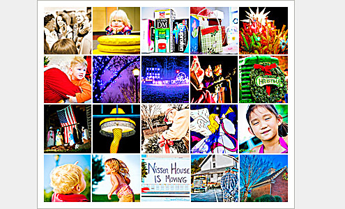 100 Moments Collage (Images 61-80) - Life in Lewisville, North Carolina (Forsyth County). Deb Phillips, photographer.