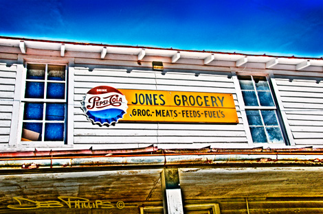 Jones Grocery Store in the Township of Lewisville, North Carolina (Forsyth County) - Photo #1. Deb Phillips, photographer.