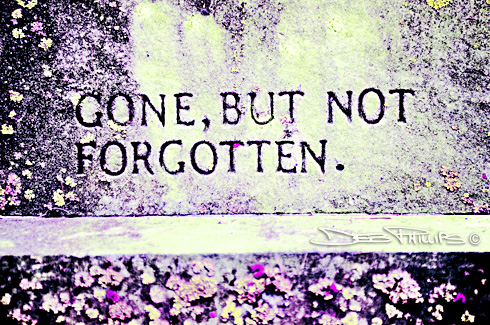 This image is an artistic rendering of an inscription on an old tombstone in one of the graveyards featured in the 2009 Historic Graveyard Tour held in Lewisville, North Carolina. Deb Phillips, photographer.