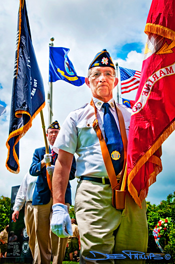 The American Legion Post 522 Color Guard of Lewisville, NC participated in the Memorial Day Service at Shallowford Square.