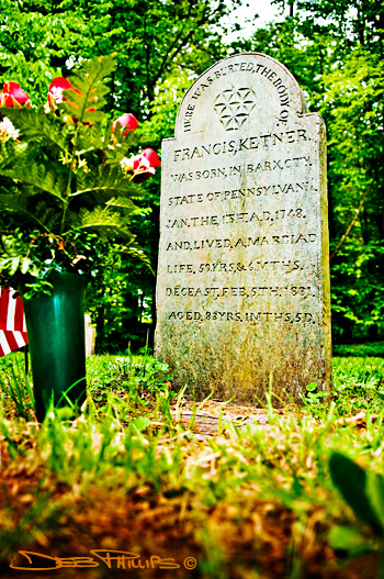 Revolutionary war soldier, Francis Ketner is bured in The Old Cemetery owned by Shiloh Evangelical Lutheran Church.