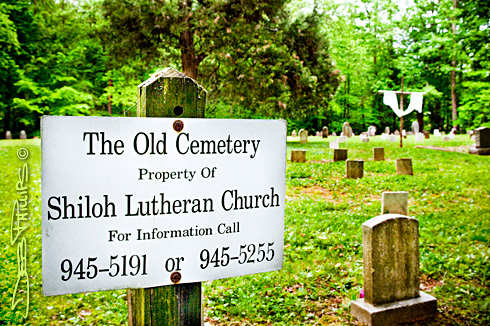 The Old Cemetery sign