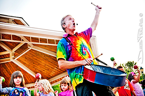 Rick Hubbard, The Kazoobie Kazoo Show at Shallowford Square in Lewisville, NC.