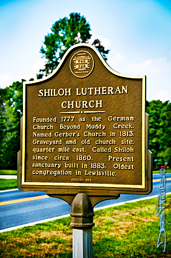 Shiloh Evangelical Lutheran Church historical marker