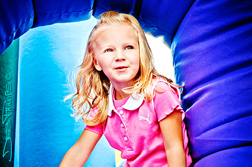 This little beauty was one of the many children who played on the giant blow-up at the first annual Best of Lewisville Festival held at Shallowford Square.