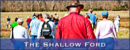 The Lewisville Sesquicentennial Committee and the Yadkin Valley Historical Association hosted an exploration of the Shallow Ford.
