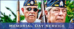 Memorial Day Service by American Legion Post 522 in Lewisville, NC (Forsyth County)