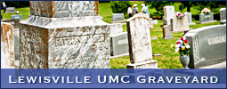 The Lewisville Historical Society sponsored a graveyard tour which included Lewisville United Methodist Church. Host: Ruth Hartle